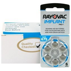 Batteries RAYOVAC 675 IMPLANT PRO+ box (60 pcs)