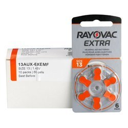 Batteries Rayovac Extra Advanced - type 13 (PR48) BOX (60 pcs)