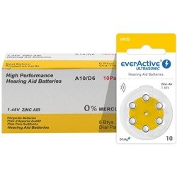 Batteries everActive ULTRASONIC - type 10 (PR70) BOX (60 pcs)