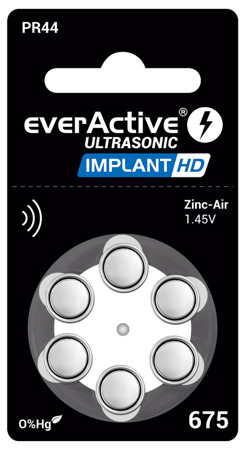 Batteries everActive ULTRASONIC IMPLANT HD 675 blister (6 pcs)