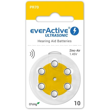 Batteries everActive ULTRASONIC - type 10 (PR70) blister (6 pcs)