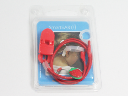 CLIP-ON HOOKS FOR PROCESSORS / HEARING AIDS - strawberry