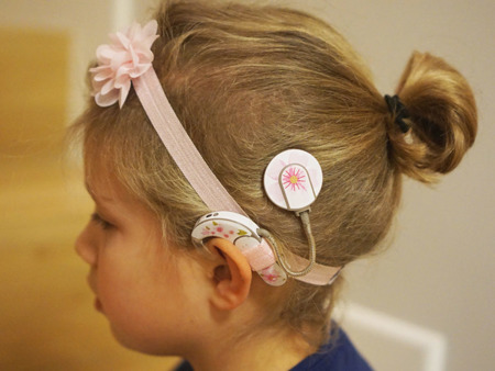EasyFlex GIRL bands for hearing aids and/or speech processors