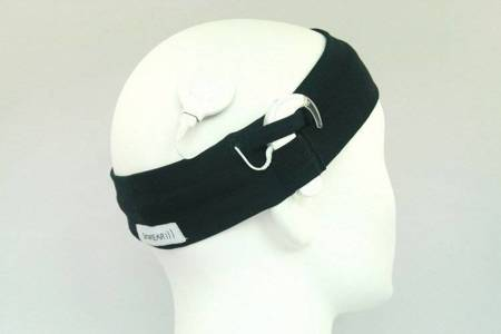 Universal cotton headband - navy blue